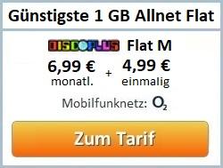 günstigste 1 GB Allnet Flat