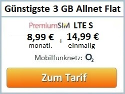 günstigste 3 GB Allnet Flat