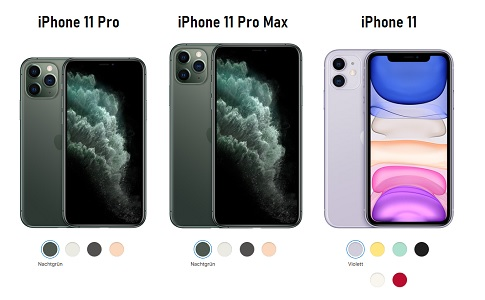 Informationen zu den iPhone Modellen, inkl. iPhone 11, iPhone 11 Pro und iPhone 11 Pro Max